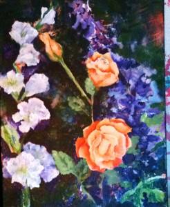 sunlight on roses